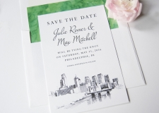 Philadelphia Skyline Save the Date Cards