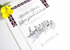 Philadelphia Skyline Wedding Invitations