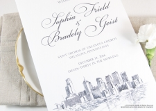 Philadelphia Skyline Wedding Programs