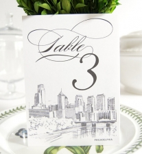 Philadelphia Skyline Table Numbers