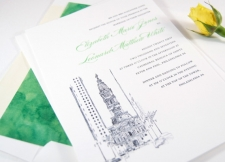Philadelphia City Hall Skyline Wedding Invitations