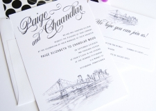 Pittsburgh Skyline Wedding Invitations