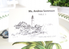 Portland Head Light  Skyline Place Cards