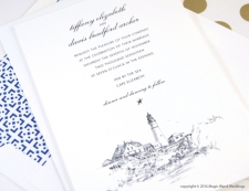 Portland Head Light House Wedding Invitations