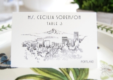 Portland Skyline Place Cards
