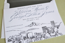 Portland Skyline Save the Date Cards
