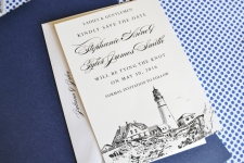 Portlandhead Light Skyline Save the Date Cards