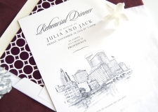 Providence Skyline Rehearsal Dinner Invitations