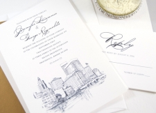 Providence Skyline Wedding Invitations