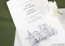 Providence Skyline Wedding Programs