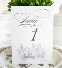 Providence Skyline Table Numbers