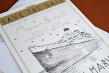Queen Mary Save the Date Cards