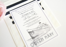 Queen Mary Skyline Wedding Invitations