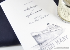 Queen Mary Skyline Wedding Programs