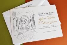 Rancho Mirage Skyline Save the Date Cards