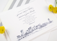 Richmond, Virginia Skyline Wedding Invitations