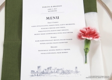 richmond skyline menu cards