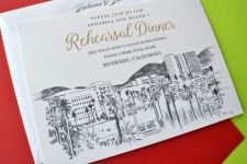 Riverside Skyline Rehearsal Dinner Invitations