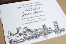 Sacramento Skyline Save the Date Cards