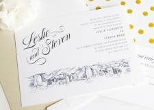 Salt Lake City, Utah Skyline Wedding Invitations