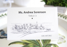 San Antonio Skyline Place Cards