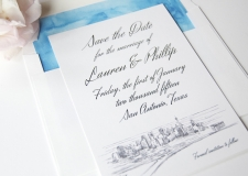 San Antonio Skyline Save the Date Cards