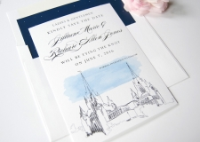 San Diego Mormon Temple Skyline Save the Date Cards