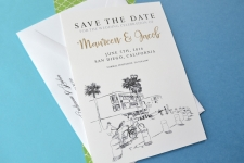 San Diego Skyline at Pacific Beach  Save the Date Cards