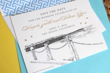 Chicago Skyline Save the Date Cards