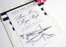 San Francisco Skyline Save the Date Cards