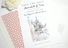San Miguel, Mexico Skyline Save the Date Cards