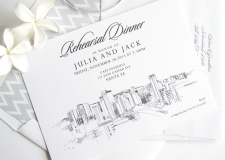 Santa Fe Skyline Rehearsal Dinner Invitations