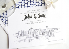 Santa Fe Skyline Save the Date Cards