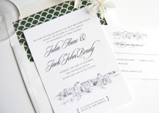 Santa Fe Skyline Wedding Invitations