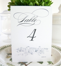 Santa Fe Skyline Table Numbers