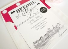 Savannah Skyline Rehearsal Dinner Invitations