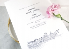 Savannah Skyline Wedding Programs