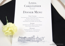 savannah skyline menu cards
