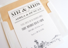 Seattle Skyline Rehearsal Dinner Invitations