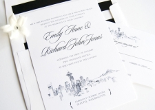 Seattle Skyline Wedding Invitations