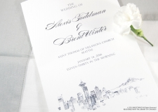 Seattle Skyline Wedding Programs