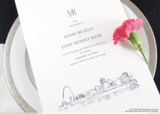 St Louis Skyline Wedding Programs