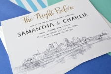 St Paul Skyline Rehearsal Dinner Invitations