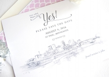 St Paul Skyline, St Paul Skyline Save the Date Cards