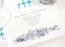 St Paul Skyline Wedding Invitations