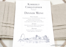 st. louis skyline menu cards