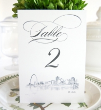 St. Louis Skyline Table Numbers