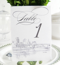 St. Paul Skyline Table Numbers