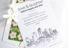 Tampa Skyline Rehearsal Dinner Invitations