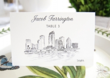 Tampa Skyline Place Cards